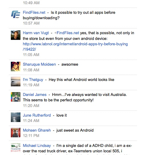 Google+ Post by The Next Web