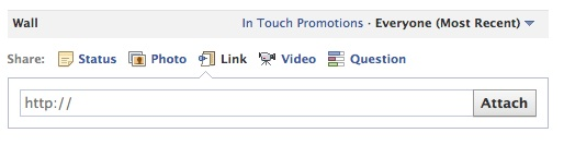 Start by adding a link to your Facebook wall post.