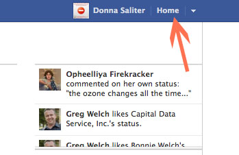 To remove unwanted apps from your Facebook profile first click on the Home link