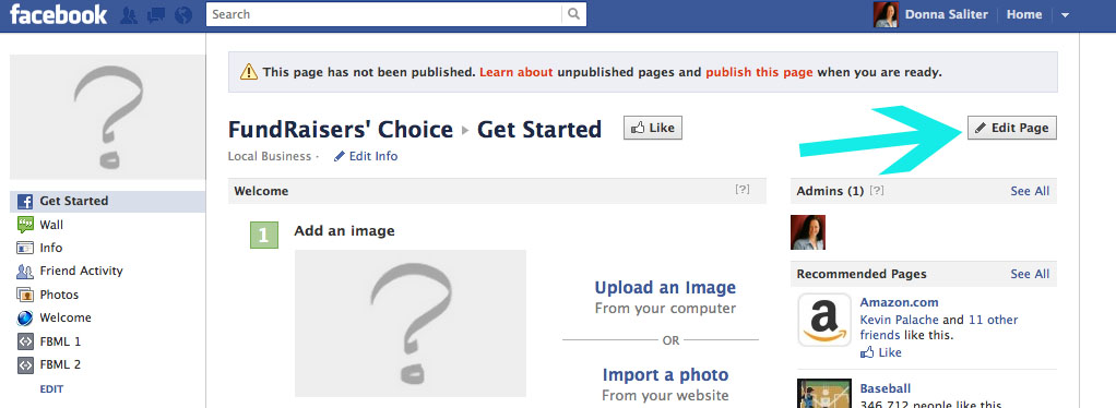 To delete Facebook business pages next click on Edit Page