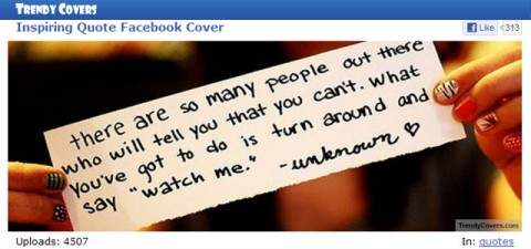 """Your Facebook Cover can """"tell it like it is"""" with TrendyCovers"""