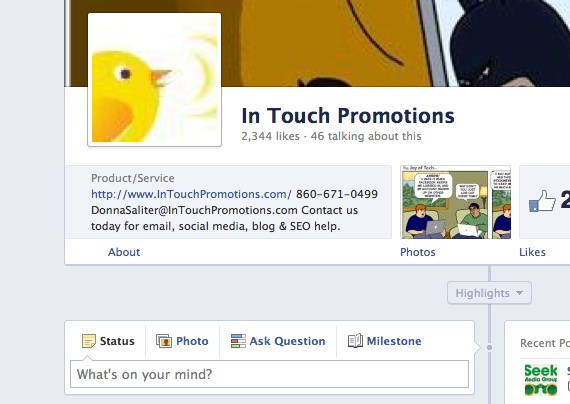 One Minute Tip: Make the Most of Your New Facebook Cover Photo Area on Your Facebook Business Timeline