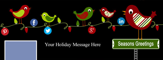 Free Holiday Facebook Cover Photo Template – Miss Birdies' Gift to You