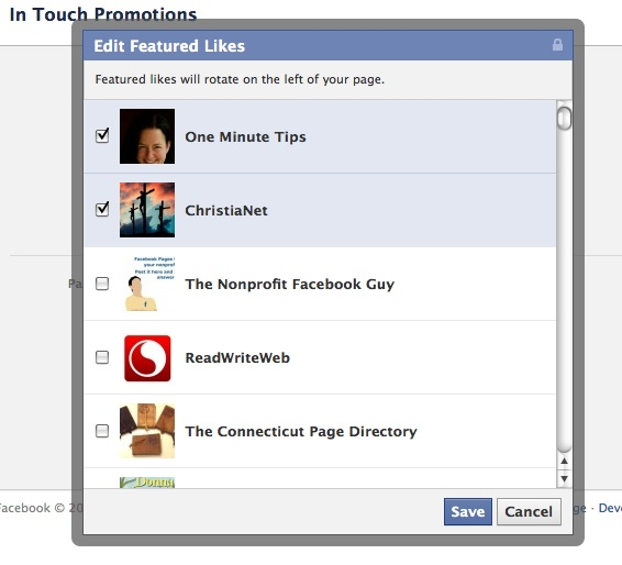 Facebook Business Page Featured Likes