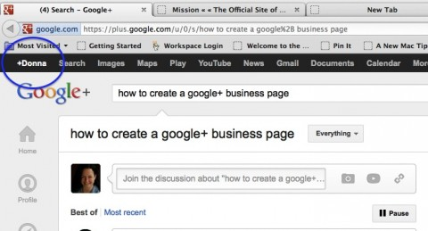 Step 1: go to your Google+ personal profile page